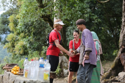 Melina Mellino and Vince Radford from Australia organised a 100-km run across six villages.