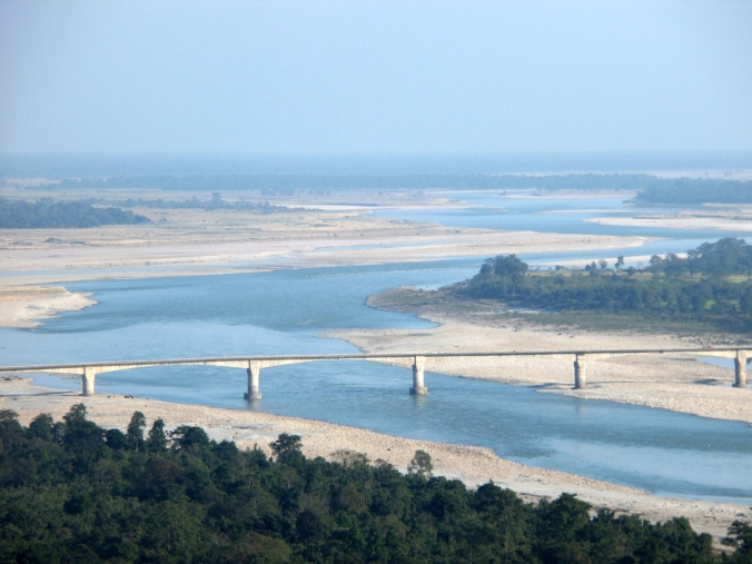 The Raneghat bridge near Pasighat.